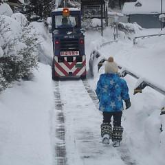 大雪でも除雪は万全の画像