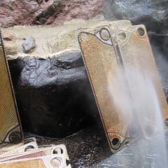 冬に向けて温泉暖房の点検の画像