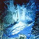 平湯大滝結氷ライトアップの画像