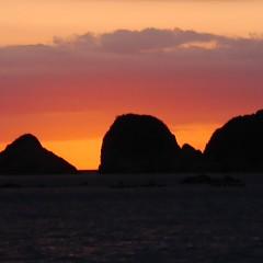 綺麗な夕陽の画像