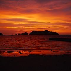 綺麗な夕焼けの画像