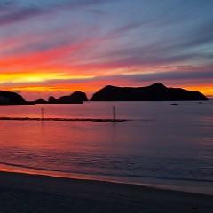 最高の夕焼けの画像