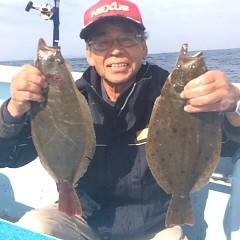 ■10月31日(月)朝便・ヒラメ釣りの写真その1