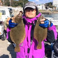11月29日(火)午前便・ヒラメ釣りの写真その3