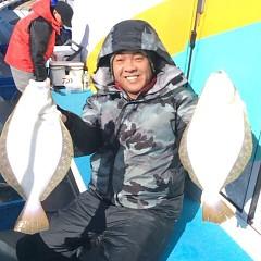 12月3日 (土)  午前便・ヒラメ釣りの写真その1