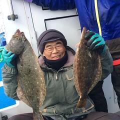 11月26日(日)  午前便・ヒラメ釣り 午後便ウタセ真鯛の写真その3