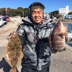 12月2日 (土)  午前便・ヒラメ釣り 午後便・ウタセ真鯛の写真その3