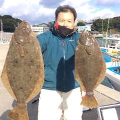 12月 27日 (水) 7時出船ヒラメ釣りの写真その1