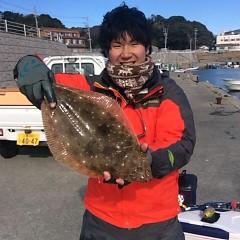 1月7日(日)午前便・ヒラメ釣りの写真その1