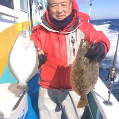 1月 13日 (土) 午前便・ヒラメ釣り・午後便・アジ釣りの写真その2