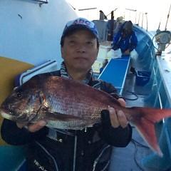 4月22日(日)  午前便・アジ釣り・午後便・ウタセ真鯛の写真その1