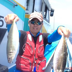 5月18日(金)午前便・アジ釣り・午後便・ウタセ真鯛の写真その1