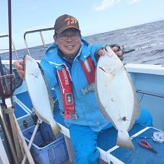 10月 22日(月) 午前便・ヒラメ釣りの写真その1
