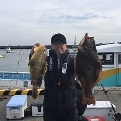 11月26日(月)午前便・ヒラメ釣りの写真その1