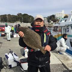 12月10日(月)午前・午後便・ヒラメ釣りの写真その1