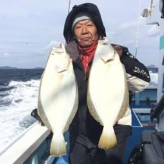 1月6日(日)午前便・ヒラメ釣りの写真その1