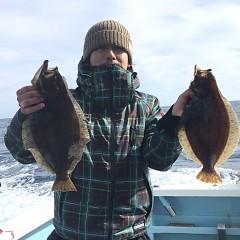 1月 11日(金) 午前便・ヒラメ釣りの写真その1