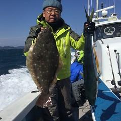 2月 24日(土) 午前便・泳がせ 午後便・アジ釣りの写真その2