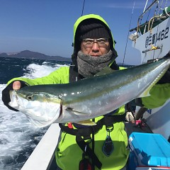 2月 24日(土) 午前便・泳がせ 午後便・アジ釣りの写真その4