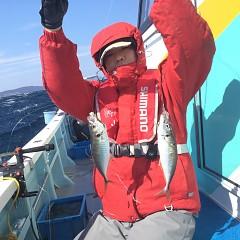 2月 24日(土) 午前便・泳がせ 午後便・アジ釣りの写真その5