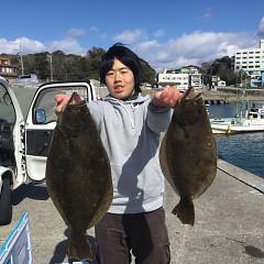 2月18日(火)午前便・ヒラメ釣りの写真その1