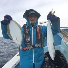2月 20日(木) 午前便・ヒラメ釣り 午後便・アジ釣りの写真その2