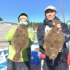 11月24日(火)午前・午後便・ヒラメ釣りの写真その1