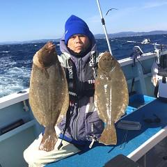 11月26日(木)午前便・ヒラメ釣りの写真その1