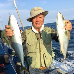7月30日(金)午後便・タテ釣りの写真その1