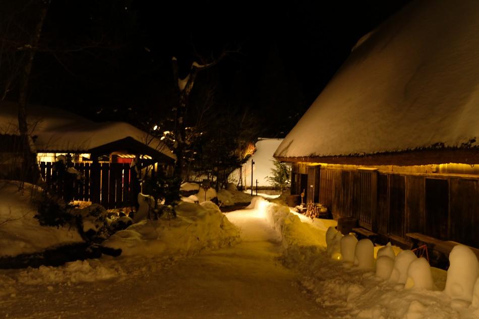 【画像】2月1日~14日 平湯民俗館 雪明かりナイトオープンカフェ